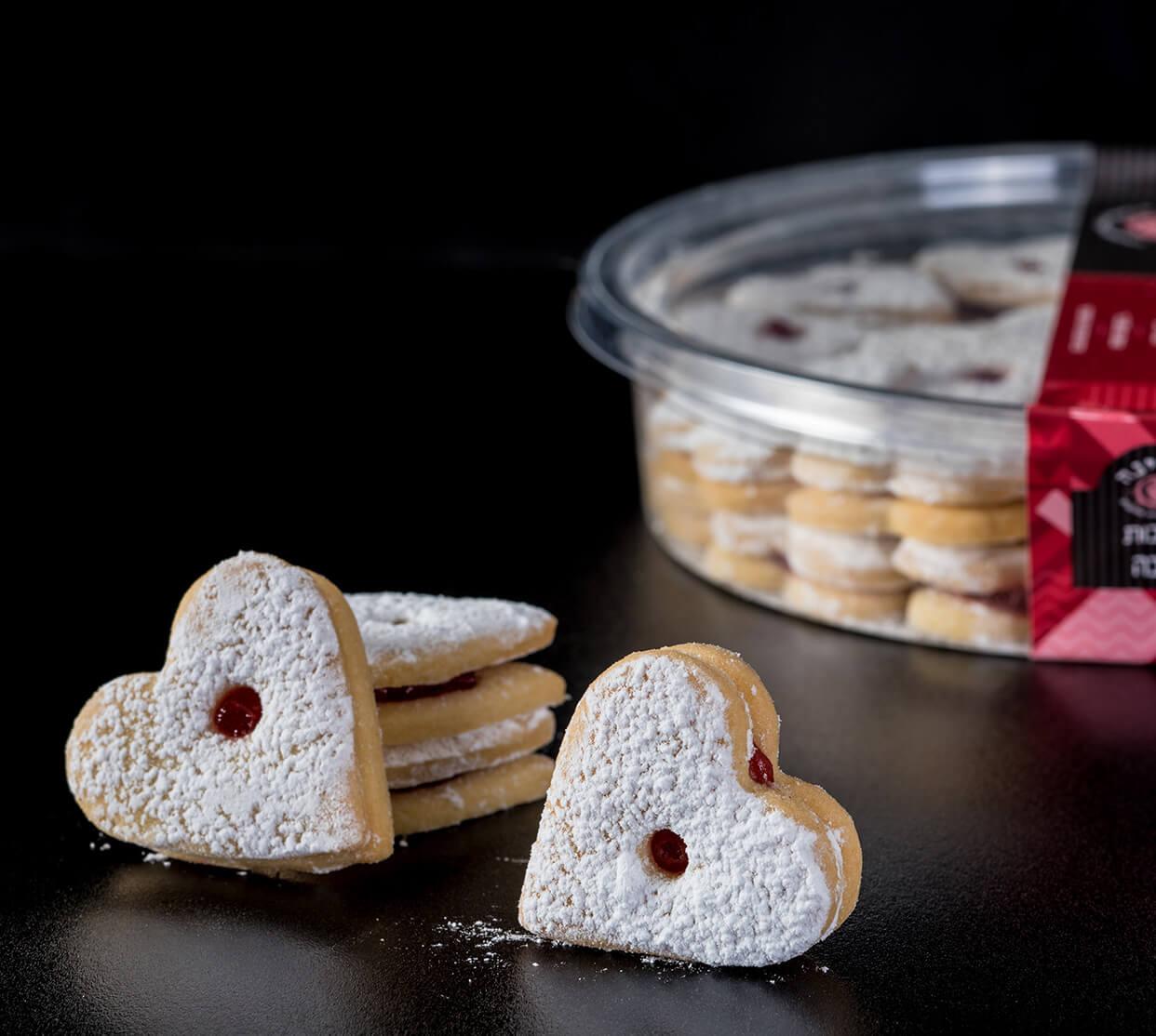 חמאה מבצק פריך – עוגיות פריכות עם ריבה